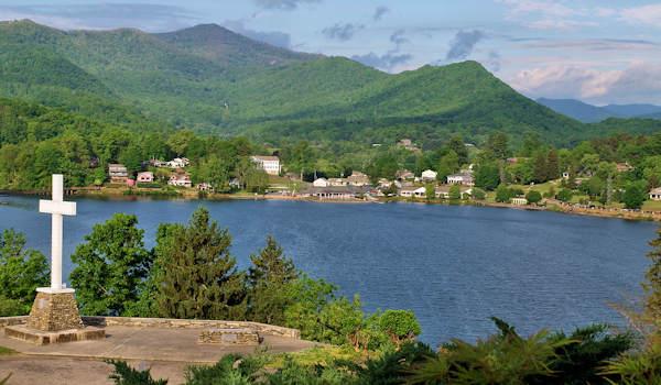 Great Lakes Near Asheville - North carolina lakes map
