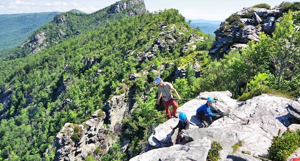 Linville Gorge Chimneys Rock Climbing