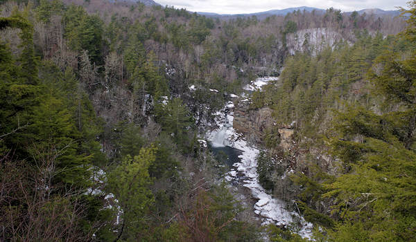Linville Falls Winter hike
