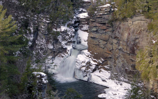 Linville Falls with Snow