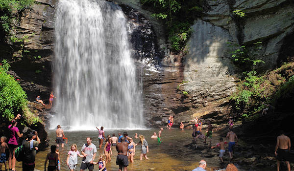 Looking Glass Falls NC Swimming