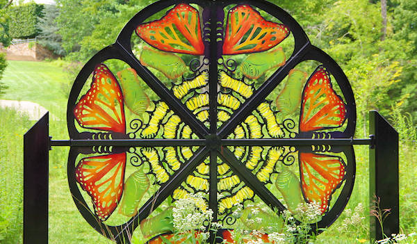 Monarch Butterfly Sculpture, NC Arboretum