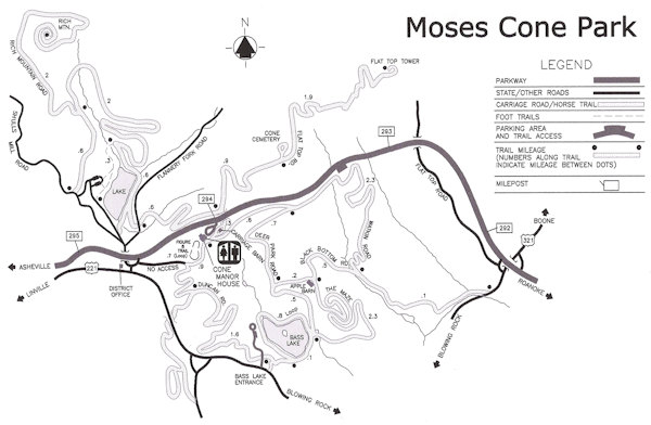 Moses Cone Park Hiking Trails