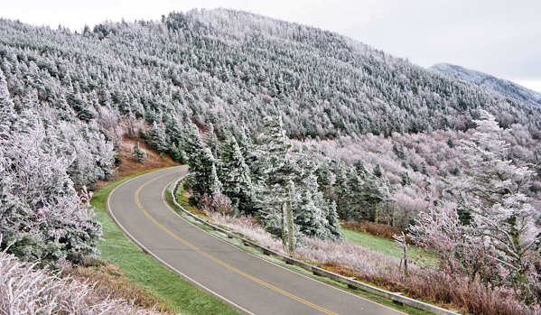 Mt Mitchell, NC, snow