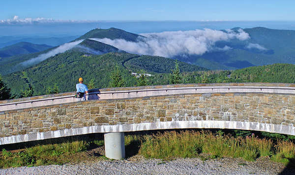 Mt Mitchell Observation Deck Views