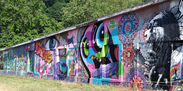 Mural in River Arts District Asheville