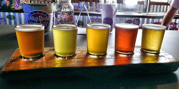 Oskar Blues Beer Flight