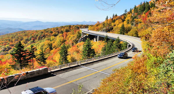 Linn Cove Viaduct Fall Color