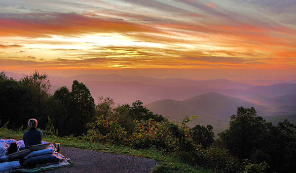 Blue Ridge Parkway Sunrise Picnic