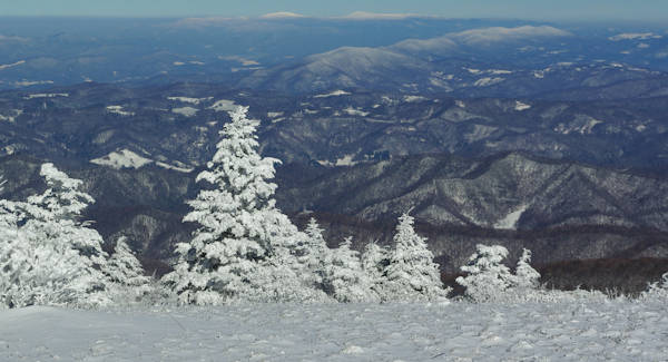 Roan Mountain NC Snow