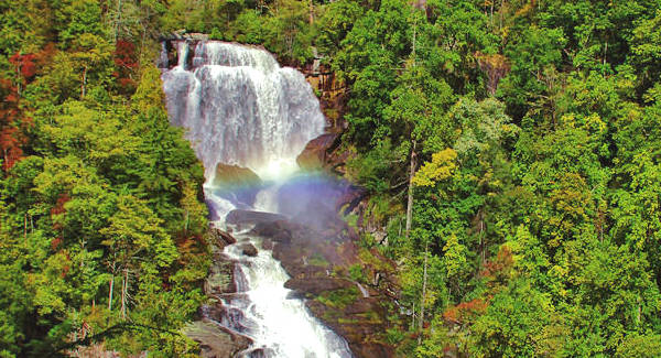 Upper Whitewater Falls Rainbow