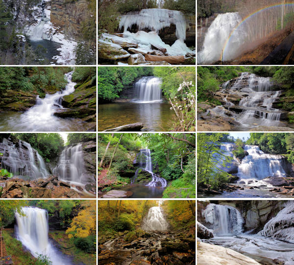 Here are photos for each month! Enjoy Asheville waterfalls all year ...