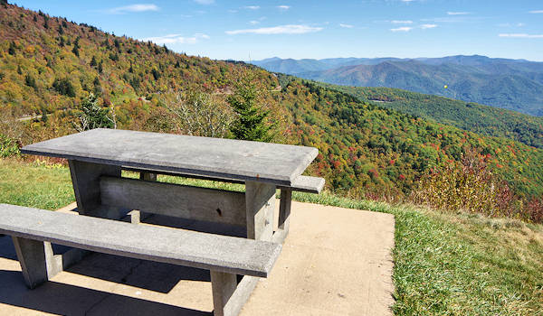 Waterrock Knob Picnic Table