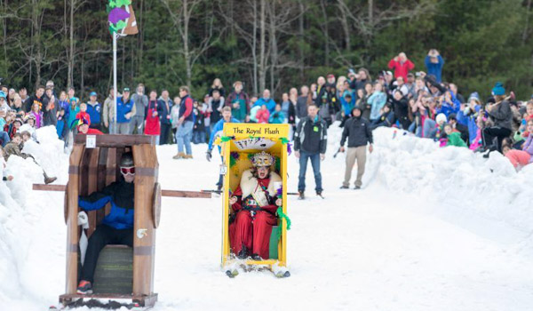 Outhouse Races Sapphire Valley Ski Resort